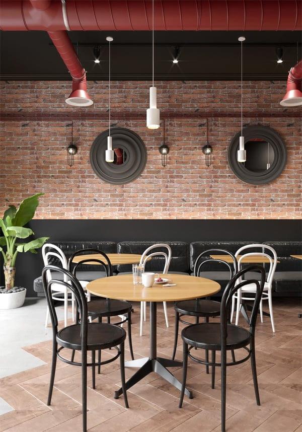 Thiết kế không gian nhà hàng sang trọng thoáng đãng mang lại sự thoải mái cho thực khách